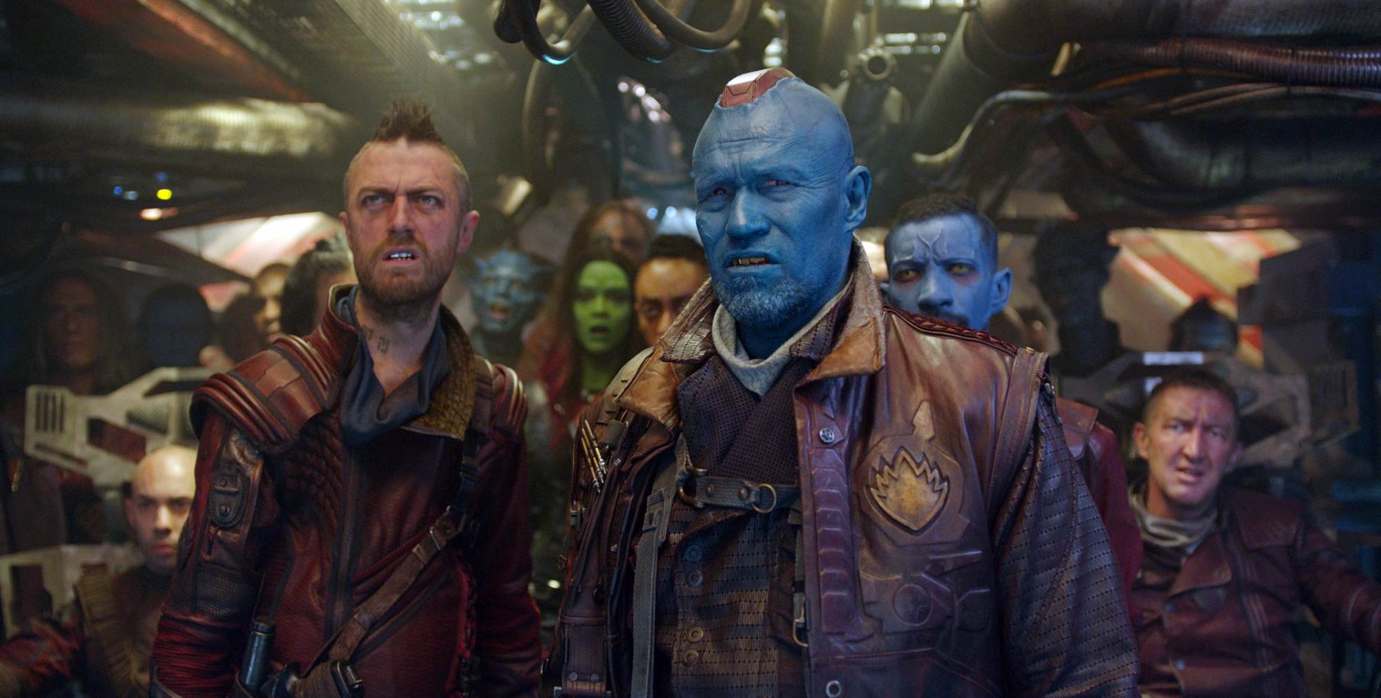 Gunn and michael rooker in guardians of the galaxy 2014 movie image