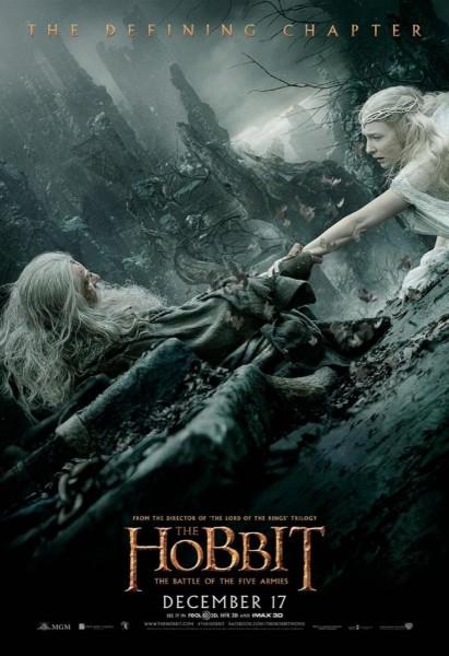 hobbit-battle-5-armies-poster-ian-mckellen-cate-blanchett-411x600