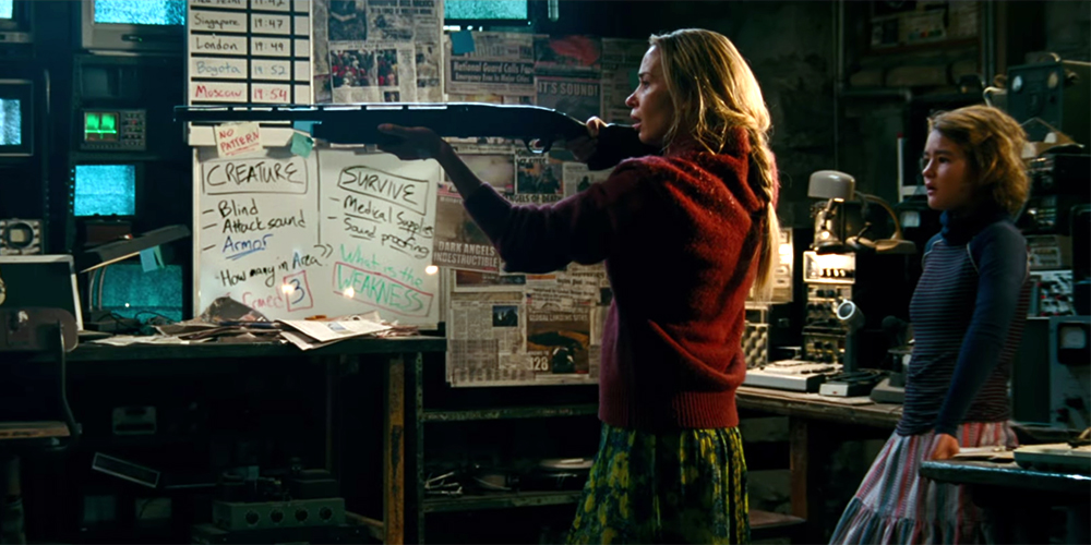 A Quiet Place 2018 Movie Review Splatter On Film